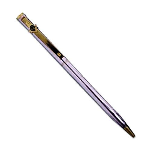 Square & Compass Masonic Ball Point Pen - [Silver]