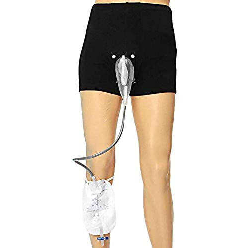 XJZHANG Tragbarer Urin-Beutel-Inkontinenz-Hosen für Männer, Urinal-System mit Sammlungs-Beutel Tragbarer Leck-Beweis-Bein-PIPI-Katheter-Halter für Ältesten