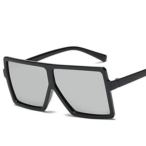 YHKF Gafas De Sol Cuadradas Retro para Hombre, Gafas De Sol Grandes De Gran Tamaño para Mujer, Gafas De Sol-C3