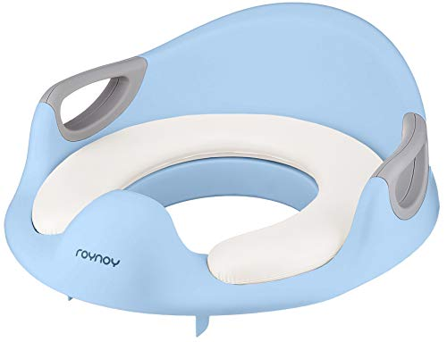 roynoy | Toilettensitz für Kinder | WC Sitz für Kinder | Sitzverkleinerer mit Griff für Toilette | Toilettentrainer | Kloaufsatz baby blau
