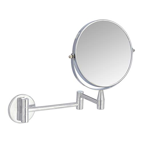 AmazonBasics Wall-Mounted Vanity Mirror, Cromo, 38.6328 cm