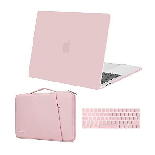 MOSISO Case Compatibile con MacBook PRO 13 Pollici 2020-2016 Uscita A2289 A2251 A2159 A1989 A1706 A1708, Custodia Rigida in Plastica&360 Protettivo Borsa&Tastiera Cover, Quarzo Rosa