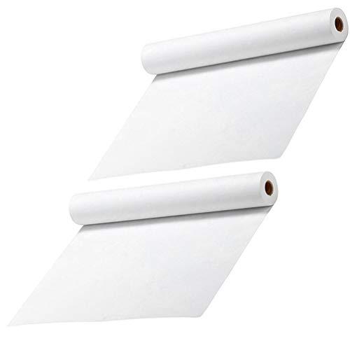 NUOBESTY 2 Stück Weiße Zeichenpapierrollen Professionelle Malerei Skizzenpapier Kinder Studenten Künstler Malen Papierrollen 45Cm X 5M