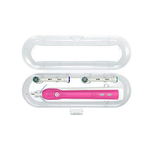 Custodia porta spazzolino elettrico per Oral b Braun con support per testine (astuccio organizer per viaggio)