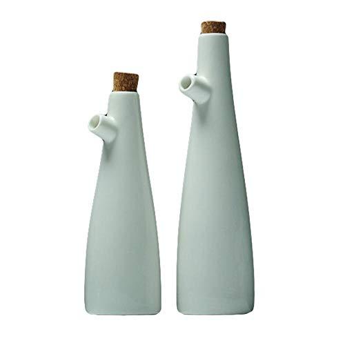 MBHD 2 unids cerámica salsa barco porcelana aceite de oliva olla salsa de soja vinagre condimento botella de aceite cocina utensilios de almacenamiento botella