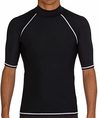 メンズ用水着ウエットスーツ 防水 速乾 UVカット 競泳水着 上着 メンズ 男性 短袖競泳水着 水泳(L)