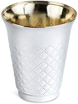Silver Coated unisex Plastic Disposable Kiddush Wine Los Angeles Mall 25 Cups Pack o 6