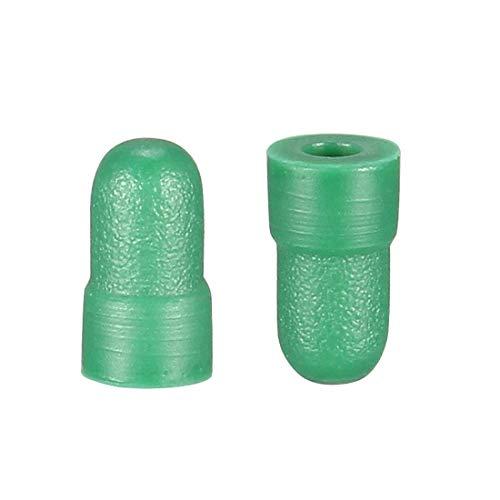 Tapón de silicona de alta temperatura, tapón de silicona sólida verde perfecto para el revestimiento de polvo anodizado chapado 2,9 x 3,5 x 6 50 unidades