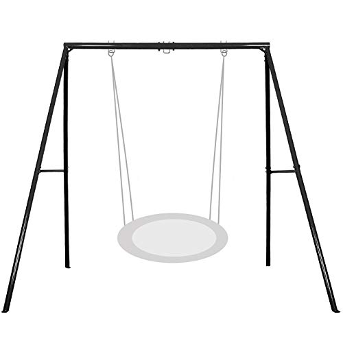 IKARE Heavy Duty Metal Swing Frame,Extra Large Swing Stand for Kids and Adults, Supports up to 440 LBS, Fits for Most Swings, Great for Indoor and Outdoor Activities, Garden, Backyard, Playground