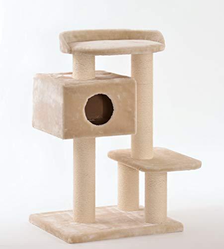 animal-design XXL Katzen-Kratzbaum Betty für große schwere Katzen Qualitätsprodukt stabil massiv Sisal, Farbe:beige