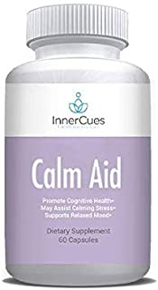 InnerCues Anti-Anxiety - Stress Relief Formula - Stay Relaxed, Calm, Positive - Powerful Mood Support Supplement with Ashw...