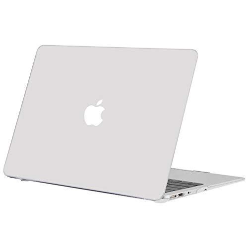 TECOOL Coque MacBook Air 13 2010-2017, Ultra Slim Plastique Coque Rigide Housse pour MacBook Air 13.3 Pouces 2010-2017 (Modèle: A1466 / A1369) - Clair