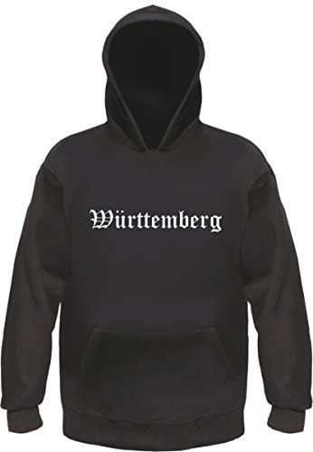 Württemberg Kapuzensweatshirt - Altdeutsch - Bedruckt - Hoodie Kapuzenpullover S Schwarz