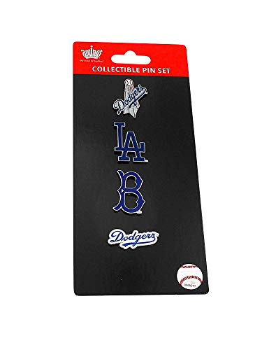 aminco MLB LA Los Angeles Dodgers Sports Team Logo 4 Pin Collectible Set