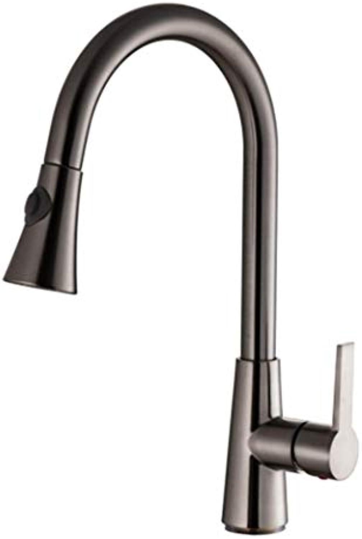 Wasserhahn Spulen Gebürsteter Nickel Spüle Logisküchenarmaturen Einzigen Handgriff Herausziehen Armatur Einzel Griff 360 Grad Wasser Mischbatterie