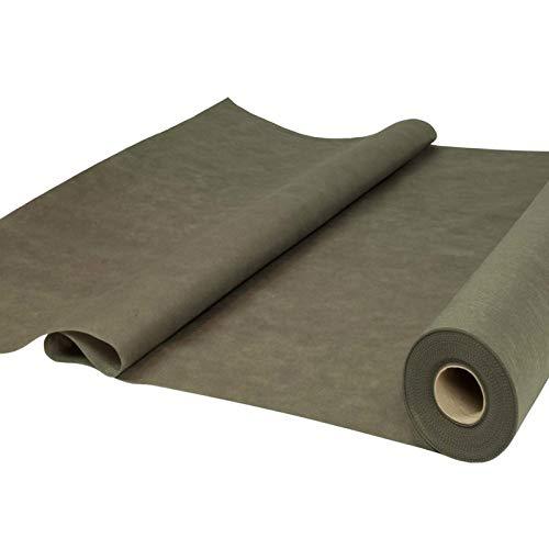 Sensalux Tischdeckenrolle, stoffähnliches Vlies, Oeko-TEX Standard 100 - Klasse I zertifiziert, 1,20m x 25m, Grau