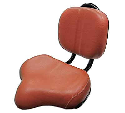 Flying Horse Bicycle Seat Saddle Back Rest Oversize Beach Cruiser Tandem- Brown