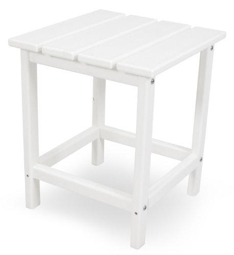 POLYWOOD ECT18WH Long Island 18' Side Table, White