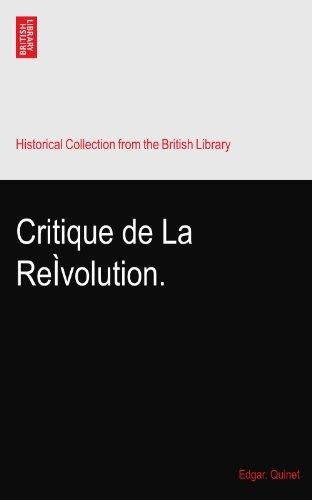 Critique de La ReÌvolution.