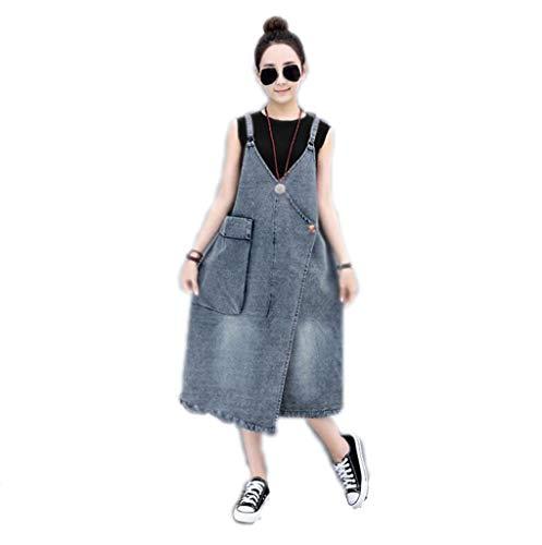 Jurk van denim, jurk, casual rok, grote grootte, dunne rok, lange parabenpatroon, grote tas, rokjes van jeans, geschikt voor kleding voor dames