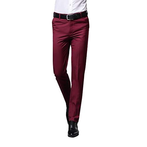 Hose in purer Farbe, für Männer, modischer Stil, Alphahope für Hose zum Anziehen Gr. 38, Wein