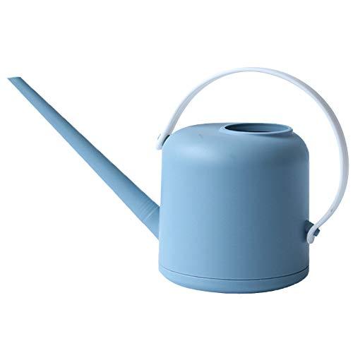 AiMok 1.5L Regadera Plástico, Regadera de jardín de caño Largo para Plantas de Interior Suculentas Hierbas Bonsai (Azul Claro)
