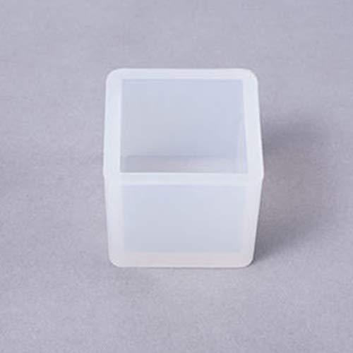 hj JH - Stampo Quadrato per Resina epossidica, 2 Pezzi Stampo Quadrato 35 x 35 x 35 mm.