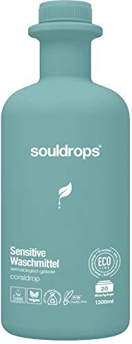 Souldrops clouddrop Sensitive Organische Waschmittel 1300ml | Umweltfreundlich, Vegan, Pflanzenbasiert, Nachhaltiges, ohne Tierversuche