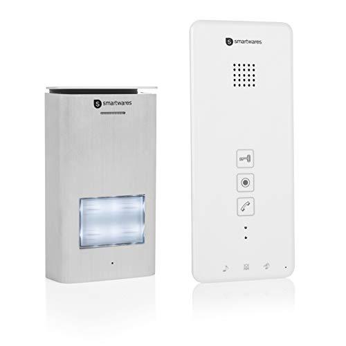 Smartwares DIC-21112 Türgegensprechanlage für 1 Wohneinheit mit Türöffnerfunktion / 2-Draht-Technik