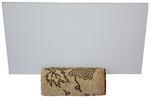 Wine Cork Place Card Holders Escort Card Real Cork Card Holders from Premium Recycled Cork Set of 25 Includes Place Cards Wine Theme Table Décor Rustic Wine Cork Vineyard Wedding Cork Placecard