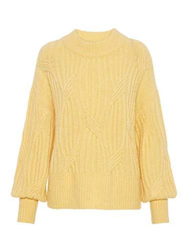 YAS Female Pullover Oversize Wollmischfaser XSGolden Haze