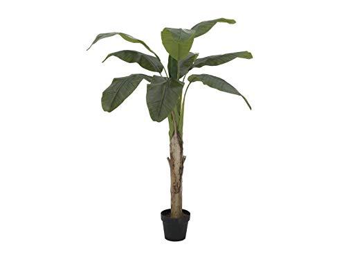 artplants.de Set 'Platanera Artificial + Spray de protección UV' - Banano sintético Makani, 145cm