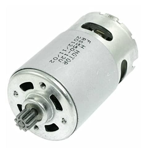 LIULIANG MeiKeL RS550 Motor de Taladro eléctrico 1 2V-18V 9/12 Dientes for GSR Destornillador de Taladro inalámbrico (Speed(RPM) : 21V 12teeth 8.8mm)