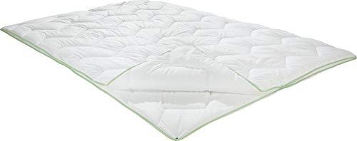 Erwin Müller Vier-Jahreszeiten-Bett Inn, Bettdecke Seersucker weiß Größe 135x200 cm - Variable Wärmestufe, Feuchtigkeitsabtransport, anschmiegsam, pflegeleicht (weitere Größen)