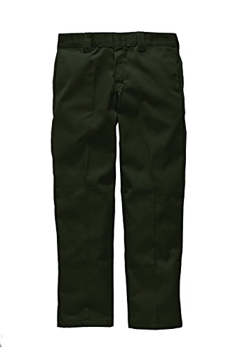 Dickies Slim Fit Straight - Pantalones para hombre, Verde (Olive Green), W36/L32