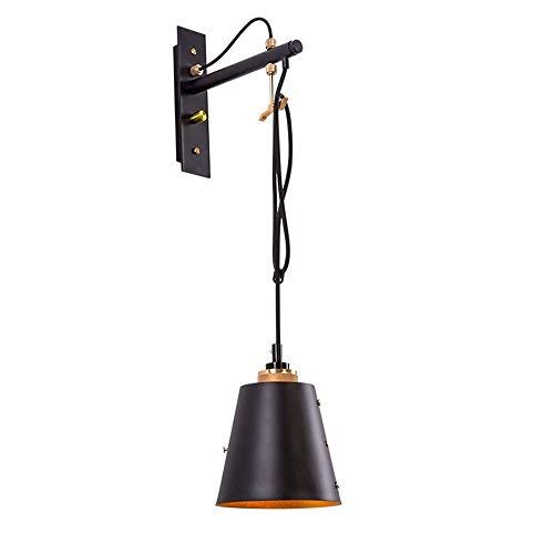 Creatieve persoonlijkheid hangende lijn wandlamp vintage loft café restaurant decoratie wandlamp Edison E27 muur leeslamp garage trappen kelder muur lantaarn