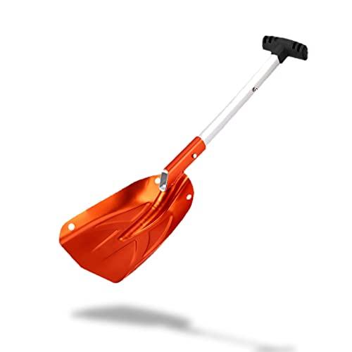 DAUERHAFT Pala de Nieve de aleación de Aluminio Naranja compacta de aleación de Aluminio,...