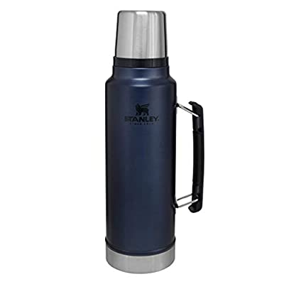 Stanley Classic Vacuum?Insulated?Wide Mouth?Bottle, Nightfall?- BPA-Free 18/8 Stainless Steel?Thermos?for Cold & Hot?Beverages???Keeps Liquid Hot or Cold for Up to 24 Hours???