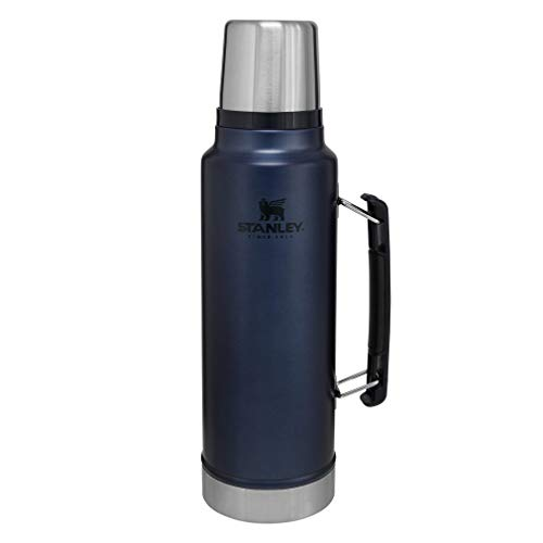 Stanley Classic Vacuum Insulated Wide Mouth Bottle, Nightfall - BPA-Free 18/8 Stainless Steel Thermos for Cold & Hot Beverages – Keeps Liquid Hot or Cold for Up to 24 Hours –