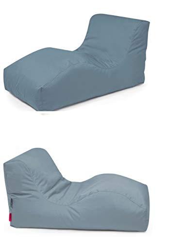 Outbag 2er Set Sitzsack Wave l Gartenliege l Plus Stone