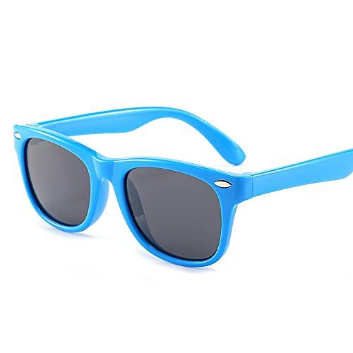 Gafas de sol polarizadas para niños con protección UV, gafas de sol flexibles de silicona para niñas y niños, color, talla Medium