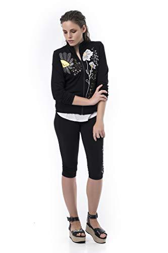 Mamatayoe Revello Blazer Casual, Negro, XL para Mujer