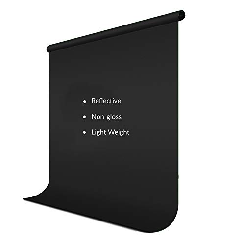 Julius Studio 6 ft. x 9 ft. Black Soft Fabricated Backdrop Muslin, Background Screen with 4 pcs Clip Holders for Photo & Video Shooting, Streaming, Chromakey, Premium Photography Studio, JSAG102