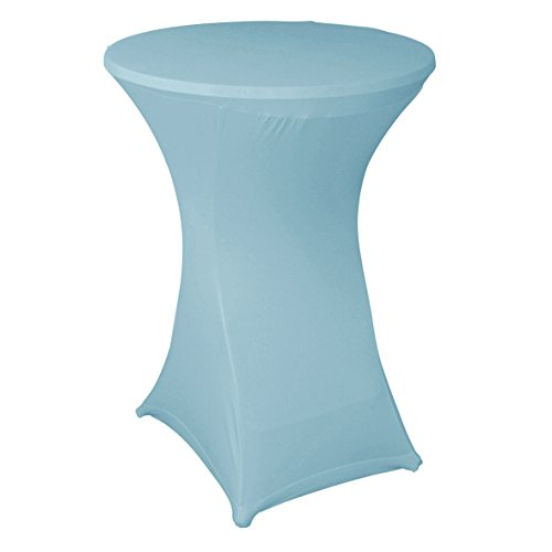 Ribelli® Stehtisch Husse Saragossa Stretch Stehtischüberzug Tischüberzug für Bistrotisch - für Stehtische Ø 80-85 cm - vers. Farben (Türkis)