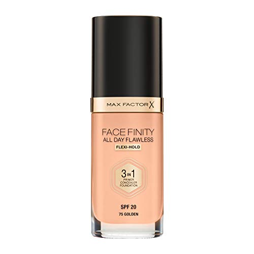Max Factor Face Finity All Day Flawless 3 in 1 Foundation 75 Golden, 1er Pack (1 x 30 ml)