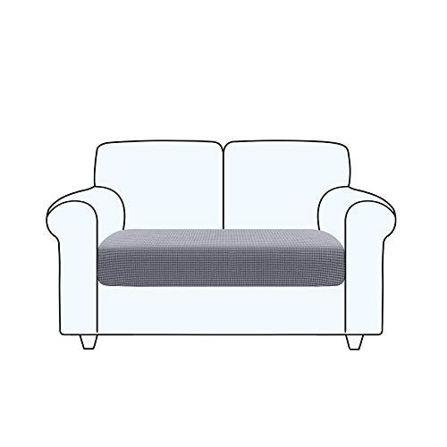 TAOCOCO Fundas de cojín para sofá, Protector de cojín de Asiento de Tela de poliéster de Alta Elasticidad (Gris Claro, 2 Asientos)