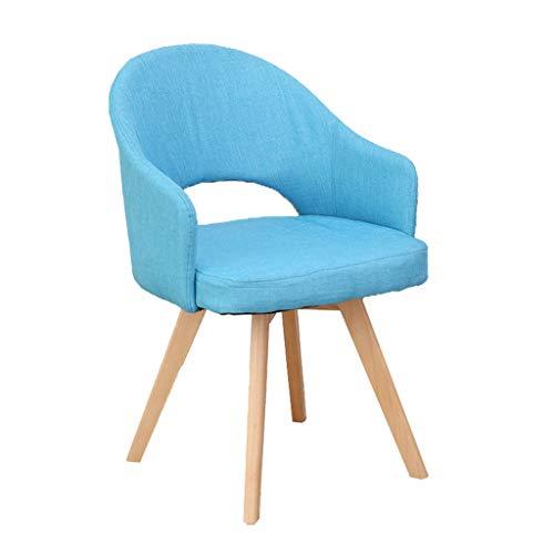 YULAN Sofa de Loisirs dinant la Chaise de Chambre Petit Fauteuil de dortoir Chaise d'ordinateur Chaise Multicolore 48 * 78cm (Color : Blue)