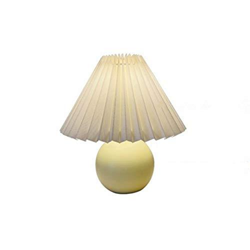 Schreibtischlampe Vintage Nordic Tischlampe Creme Farbe Plissee Falt Schreibtischlampe Mehrfarbige Nachttisch Vestibül Lampe Nachttisch Beleuchtung