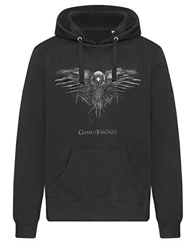 Game of Thrones - Crow Kapuzenpullover/Sweatshirt mit Taschen (Unisex) (XL)