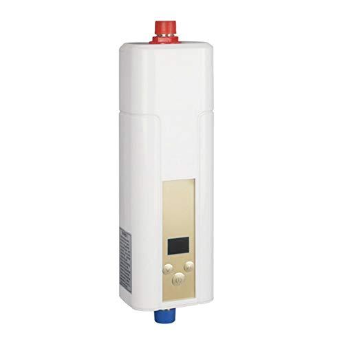 Mini Elektrischer Durchlauferhitzer für Küche, Warmwasserbereiter Energiesparend mit LCD Kleindurchlauferhitzer Water Heater 10L